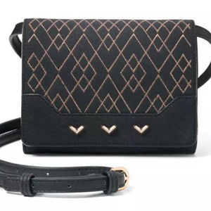 Stella & Dot Nolita Black Metallic Small 3 in 1